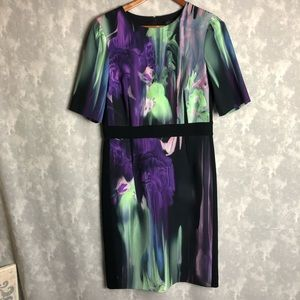 Rickie freeman for Teri Jon printed sheeth dress